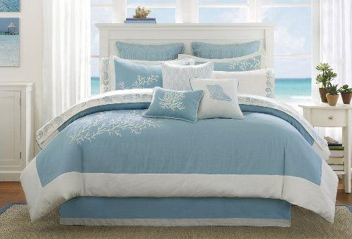 Turquoise damask Comforter Sets Queen   Harbor House Coastline Queen Comforter Set