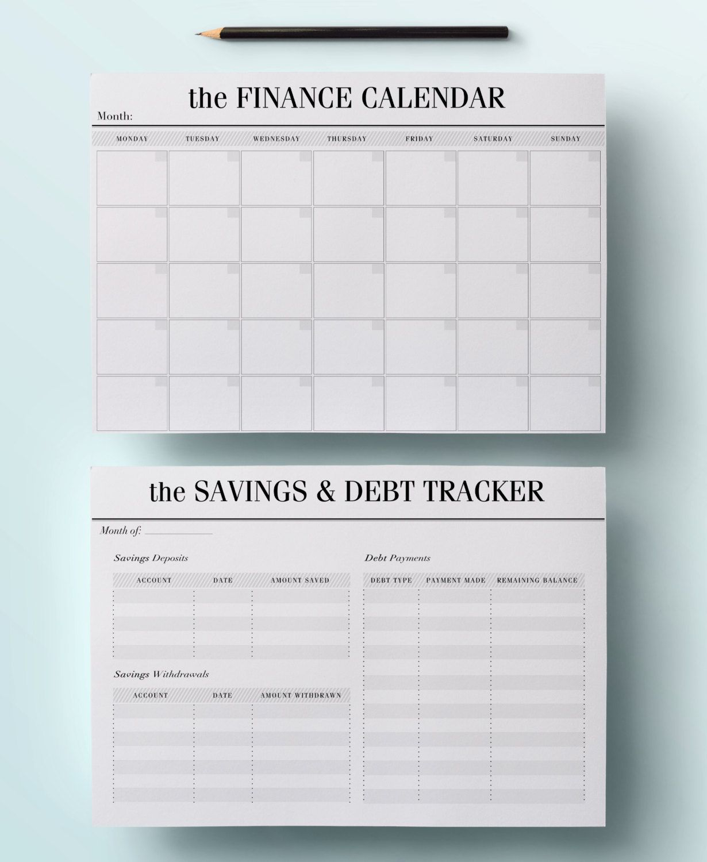 A4 Budget Planner Kit Printable Financial Von CrossbowPrintables