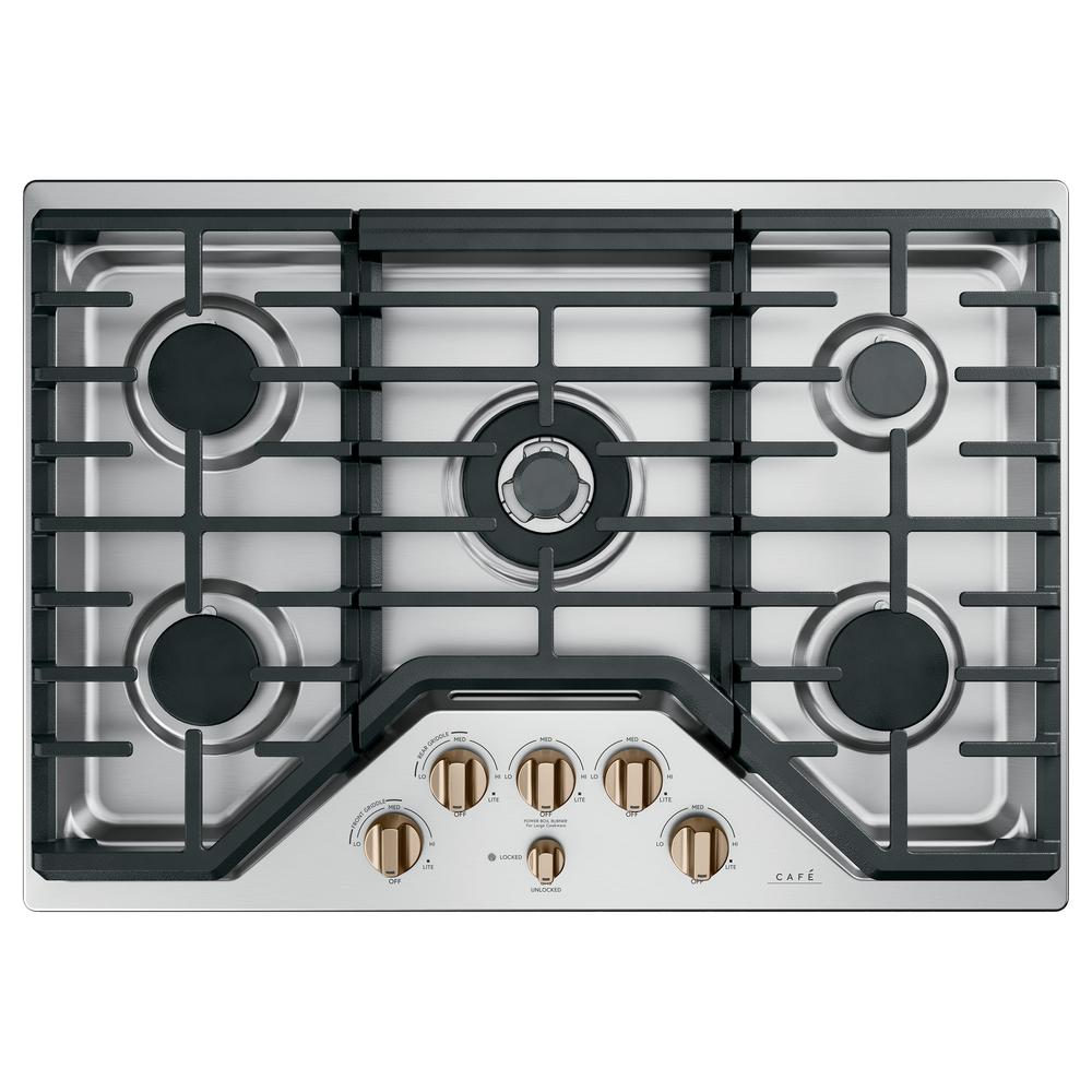 Ge Cafe 30 In Gas Cooktop In Stainless Steel And Brushed Gas Cooktop Cooktop Kitchen Color Pallet