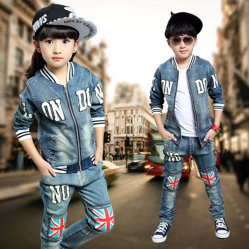 a1abb6e4a2c Find More Clothing Sets Information about 2015 Autumn Winter Kids Clothes  Cowboy Suit 2 pcs Girls Outfits Jeans Sport Clothing Children Set 3 13  Years old ...