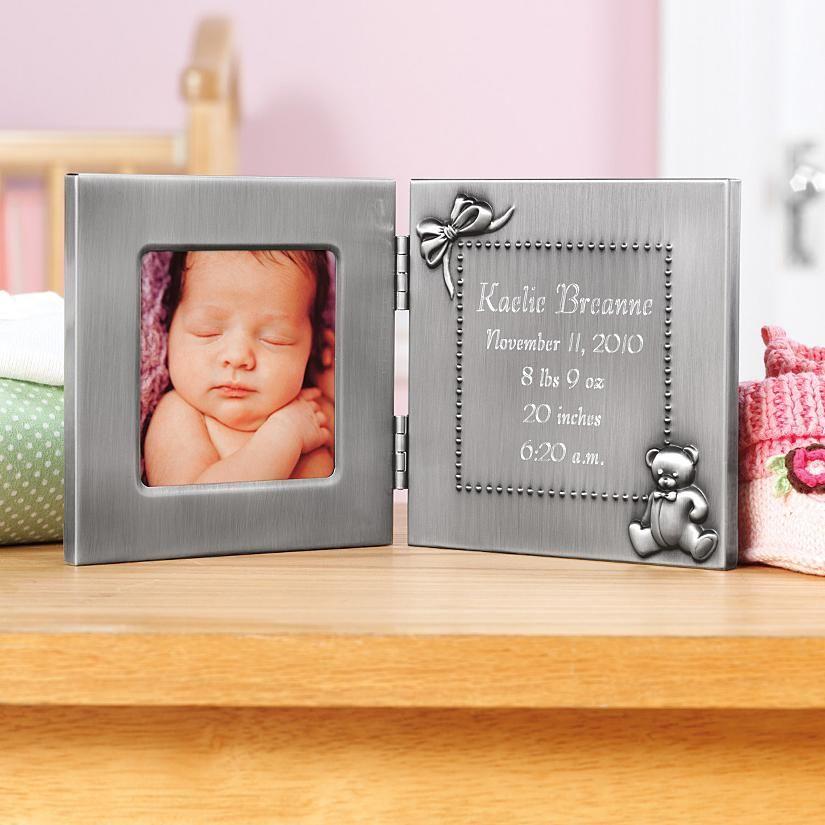 Pewter Birth Frame | Pewter