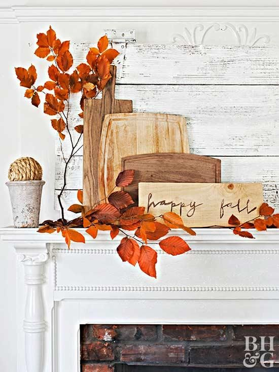 Fall Crafts With Leaves Fall Decorating Ideas Pinterest Fall Simple Fal Wood Furniture Decor