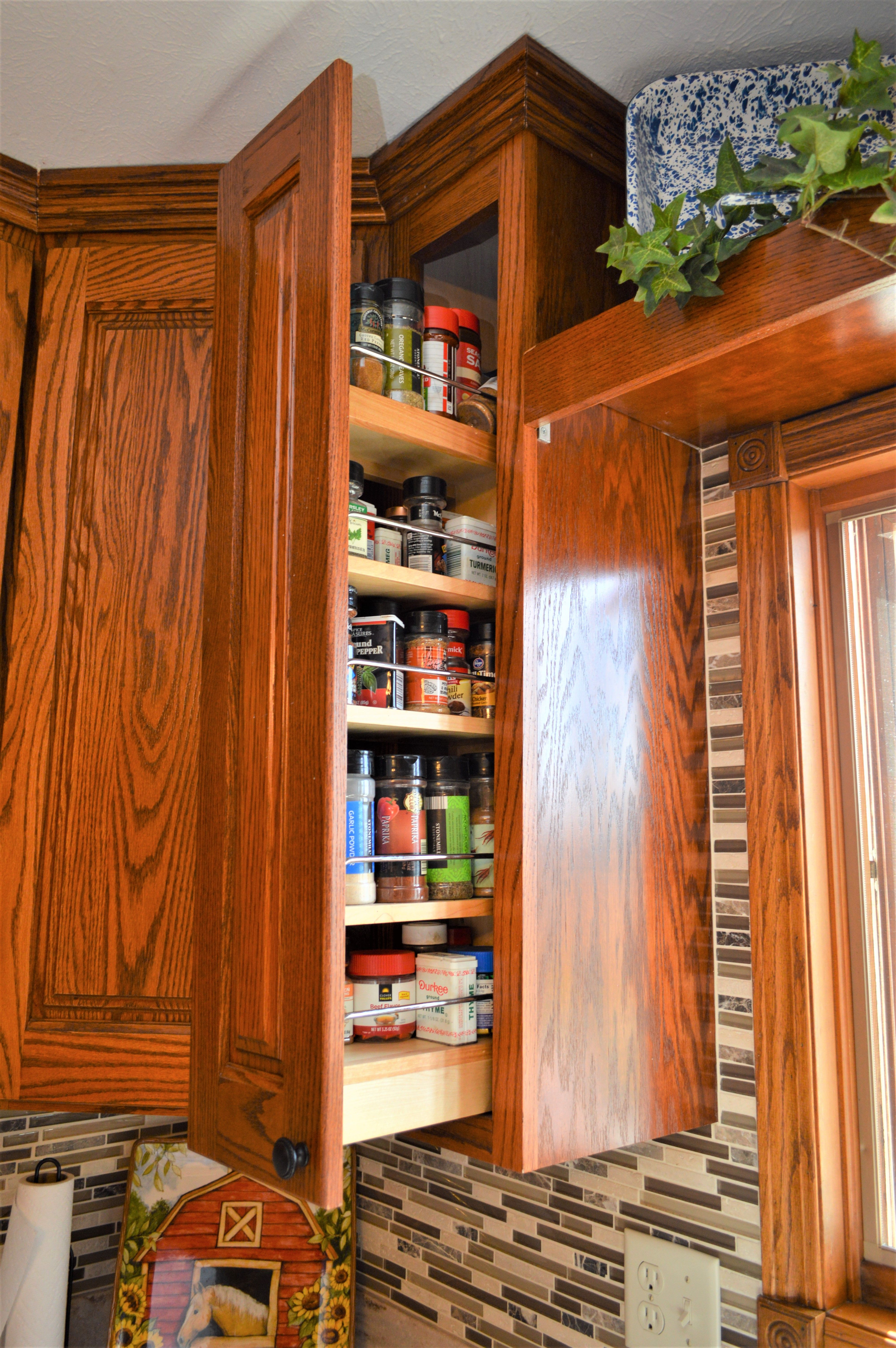 Spice Rack Cabinet Haas Signature Collection Augusta Door Style Oak Pecan Finish Cabinet Accessories Cabinetry Kitchens Bathrooms