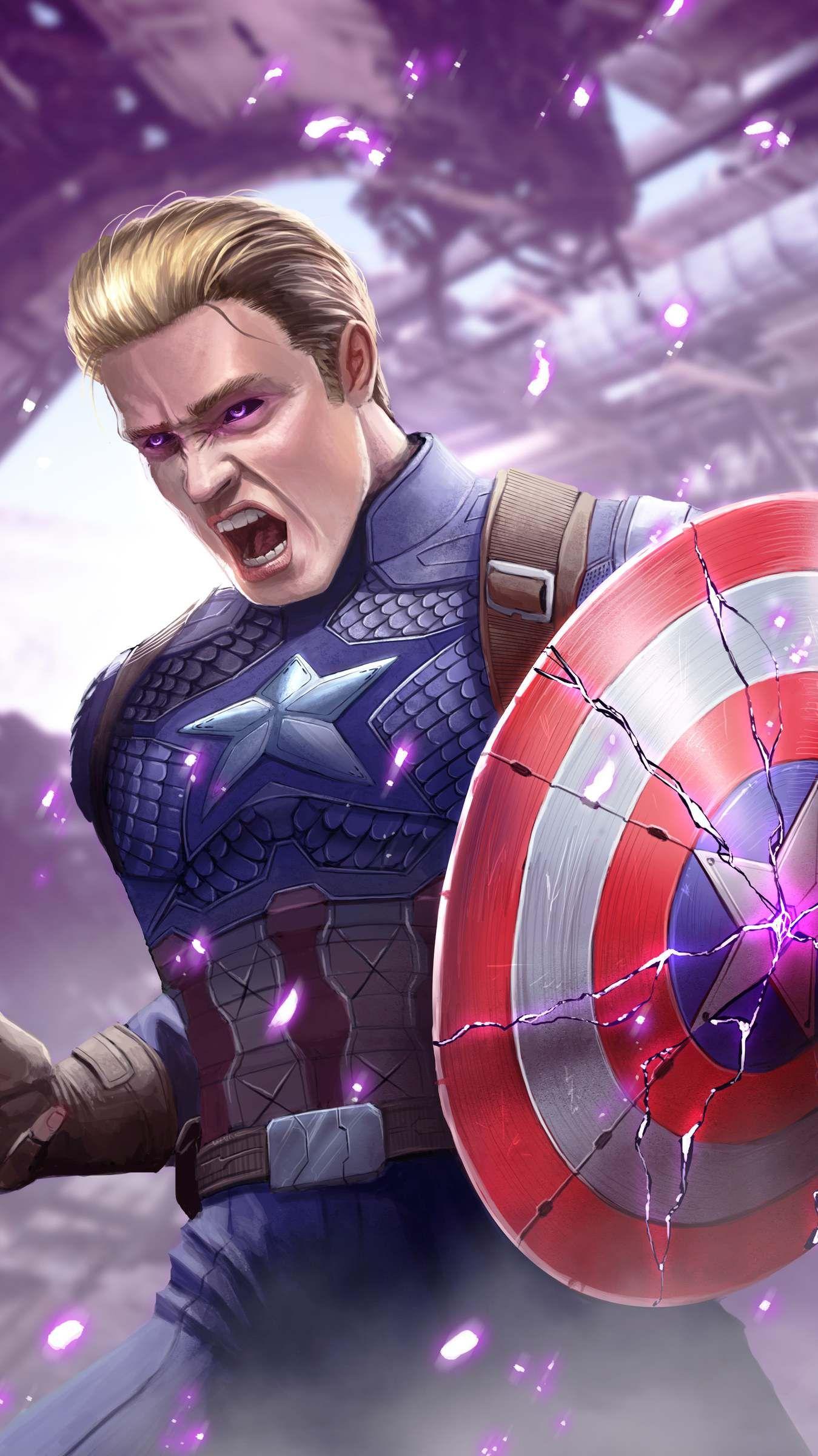 Captain America Broken Shield Wallpaper With Images Marvel
