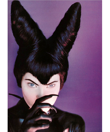 Shalom Harlow as Maleficent, photographed by Javier