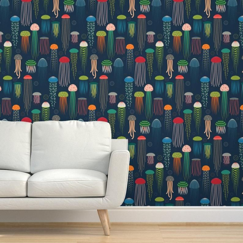 Jellyfish Wallpaper Just Jellies Jellyfish By Katerhees Etsy