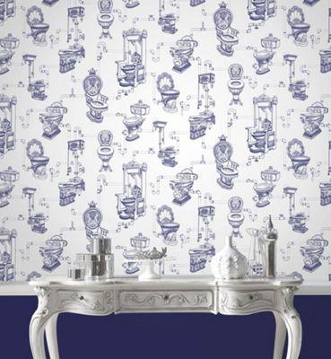 Graham Brown Blue Loo Loo Wallpaper At Debenhams Com