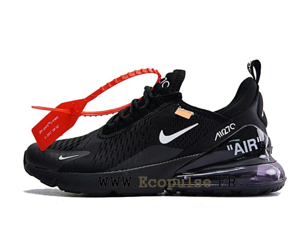 newest 6dc3d 1bfea Off white x Nike Air Max 270 Gs Chaussures Coussin Dair Classique Femme  Noir Blanc AH8050-011-Voir Nike hommes, dames et bébés chaussures de course.  Trouvez ...