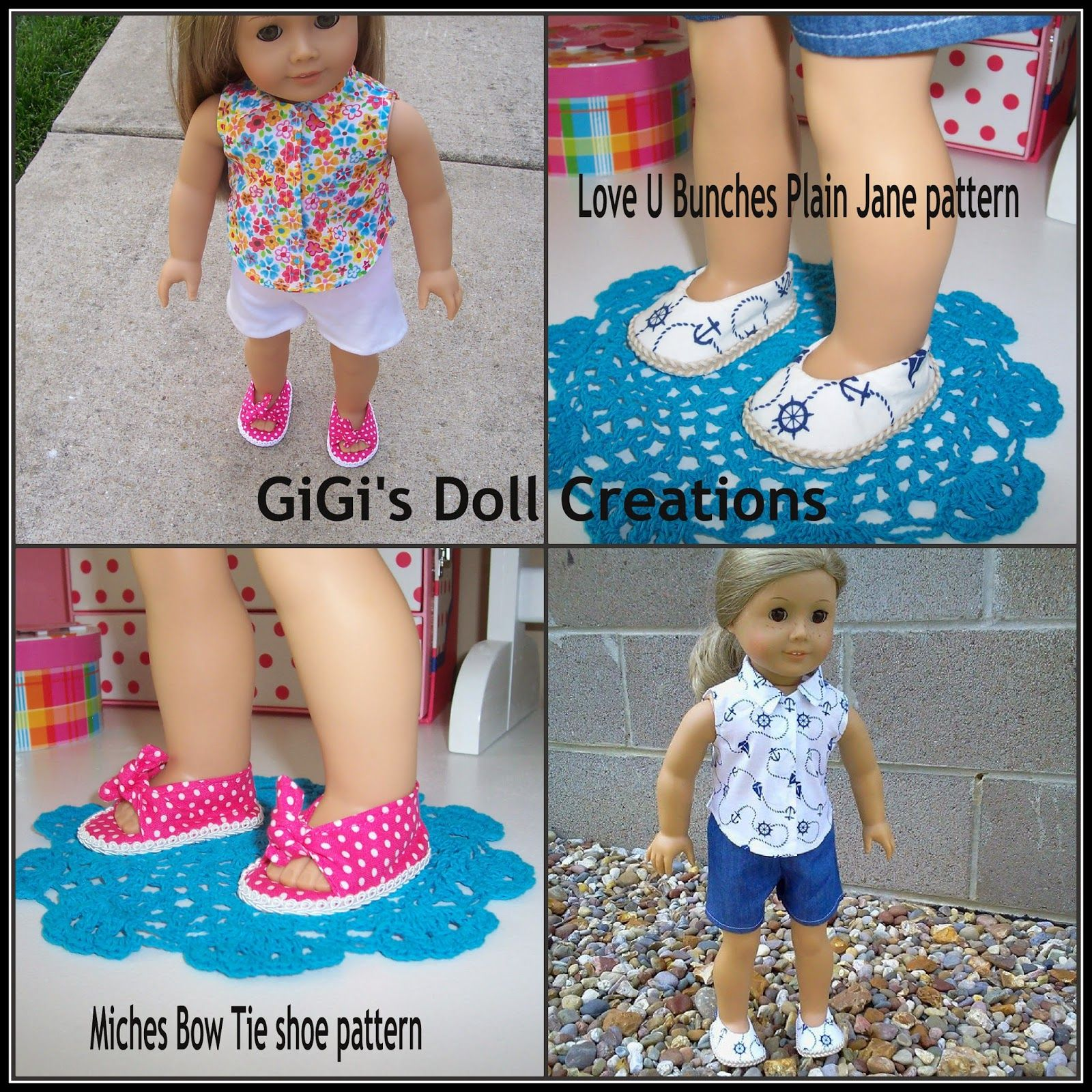Check out the tutorials! - GiGi\'s Doll and Craft Creations: 18 inch ...