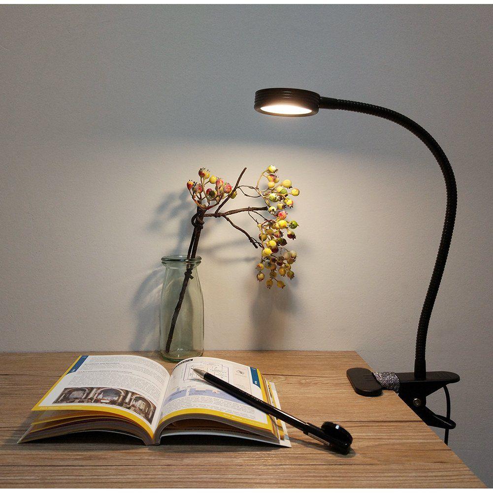 Lepower Clip On Light Reading Light Light Color Changeable Night Light Clip On For Desk Bed Headboard And Computers Black A Desk Lamp Lamp Led Desk Lamp