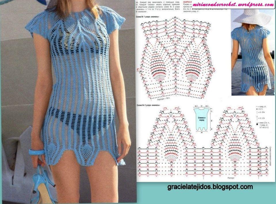 Excelente túnica!!!! | Proyectos que intentar | Pinterest | Croché ...