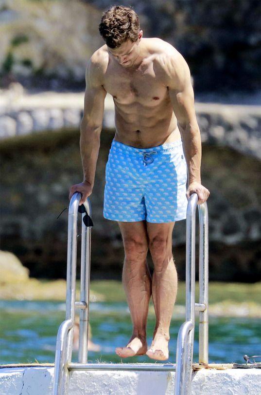 Jamie Dornan and his family in Cap Ferrat On July, 14 (x)