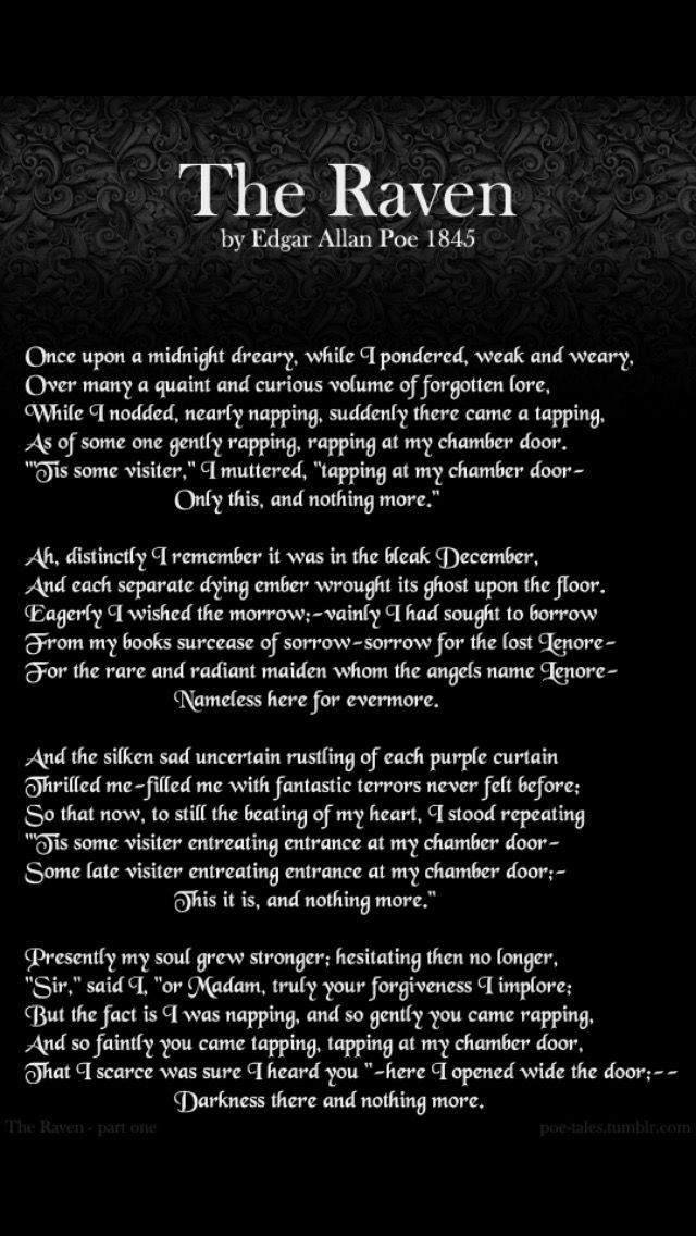 The Raven - Poem by Edgar Allan Poe - Famous Poets and Poems