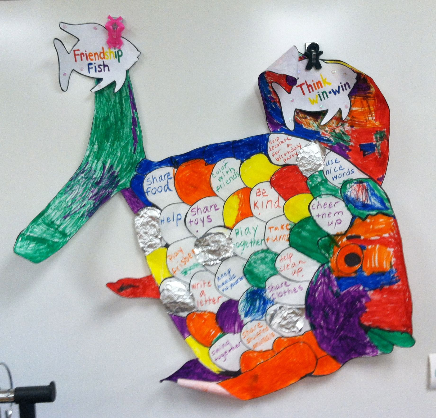 Students Read The Story Rainbow Fish And Created A Class