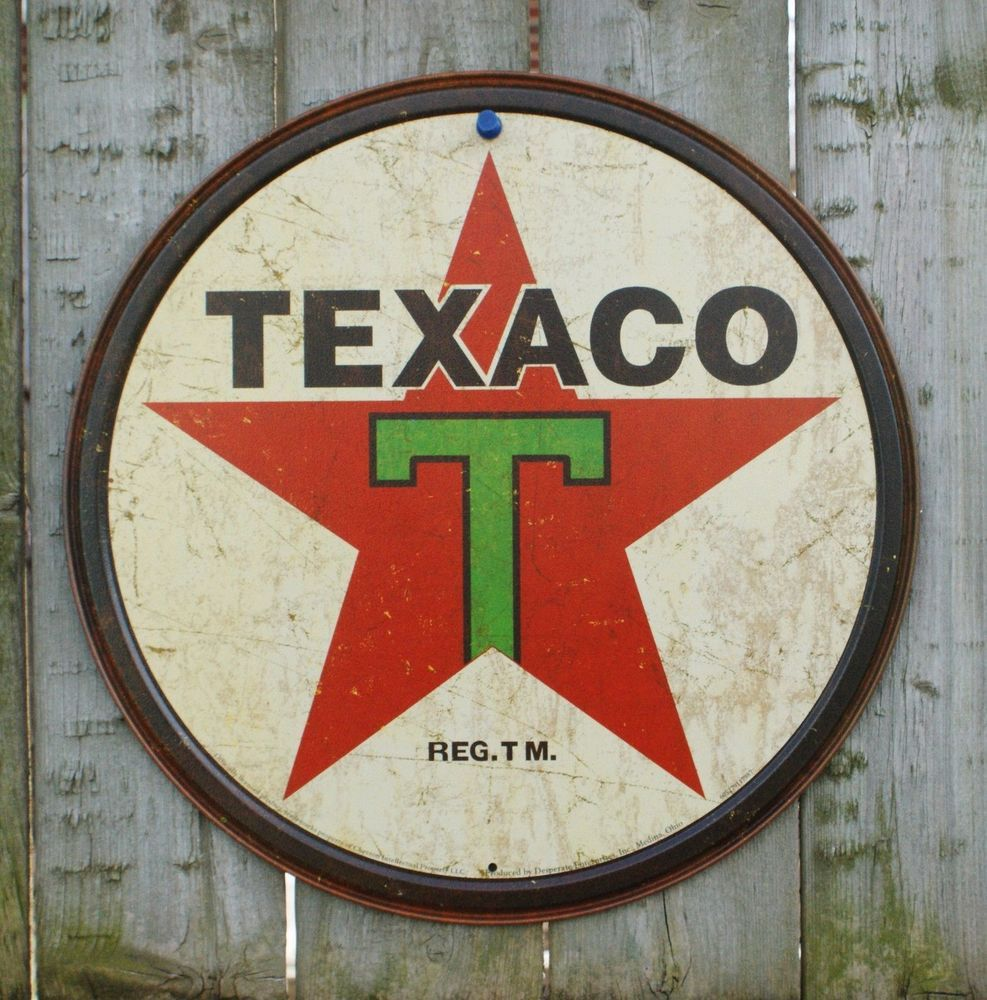 plaque publicitaire texaco huile essence m tal tole d co. Black Bedroom Furniture Sets. Home Design Ideas