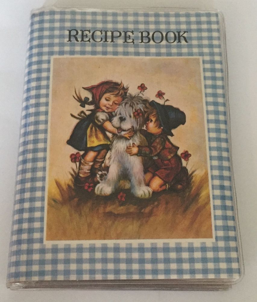 Plastic Recipe Book Farmhouse Gingham Cover Spill Proof Pages Colonial Children | eBay