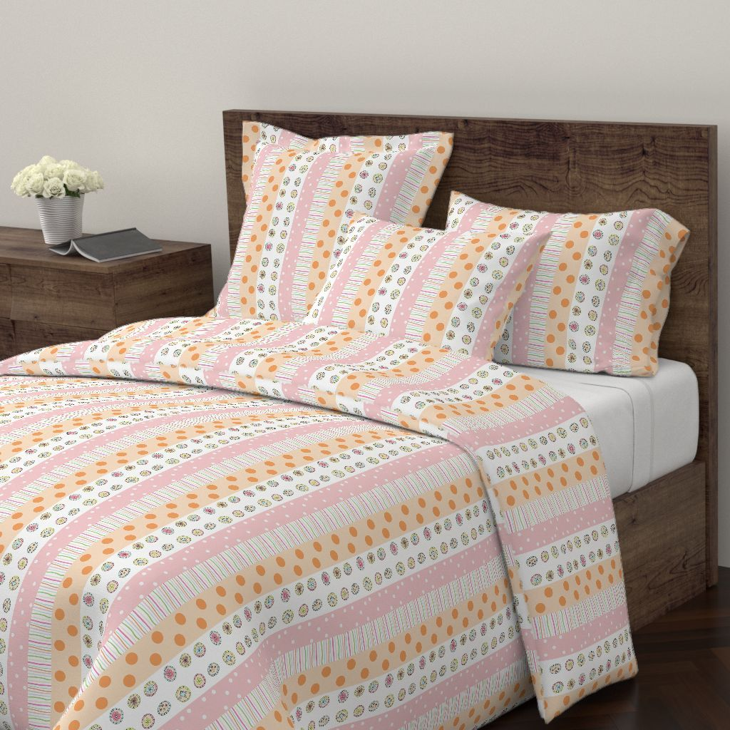 Wyandotte Duvet Cover featuring Little Treats Quilt VERTICAL - 46 pink by drapestudio | Roostery Home Decor