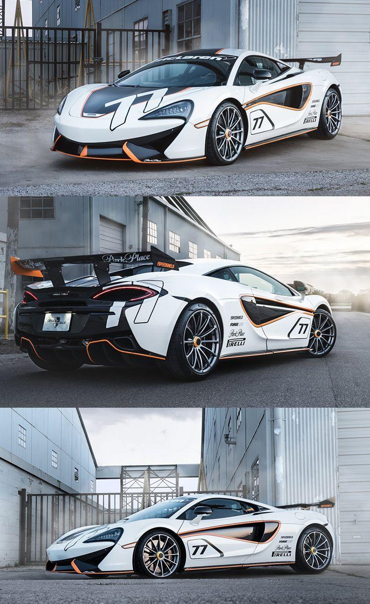 White McLaren 570S Boasting a Crazy Big Speed Shield Wing Spoiler