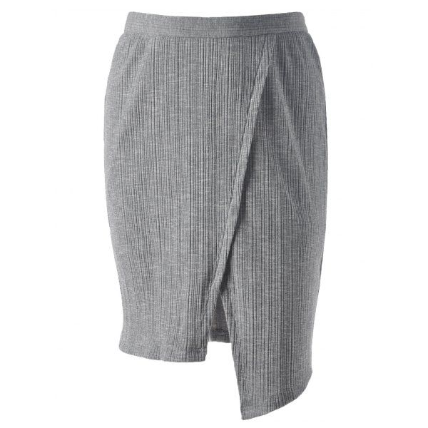 Stylish Jag Middle-Skirt For Women — 12.57 € --------------------Size: XL Color: SMOKY GRAY