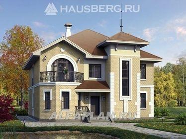 Проекты двухэтажных домов из пеноблоков с фото | Домашняя ...
