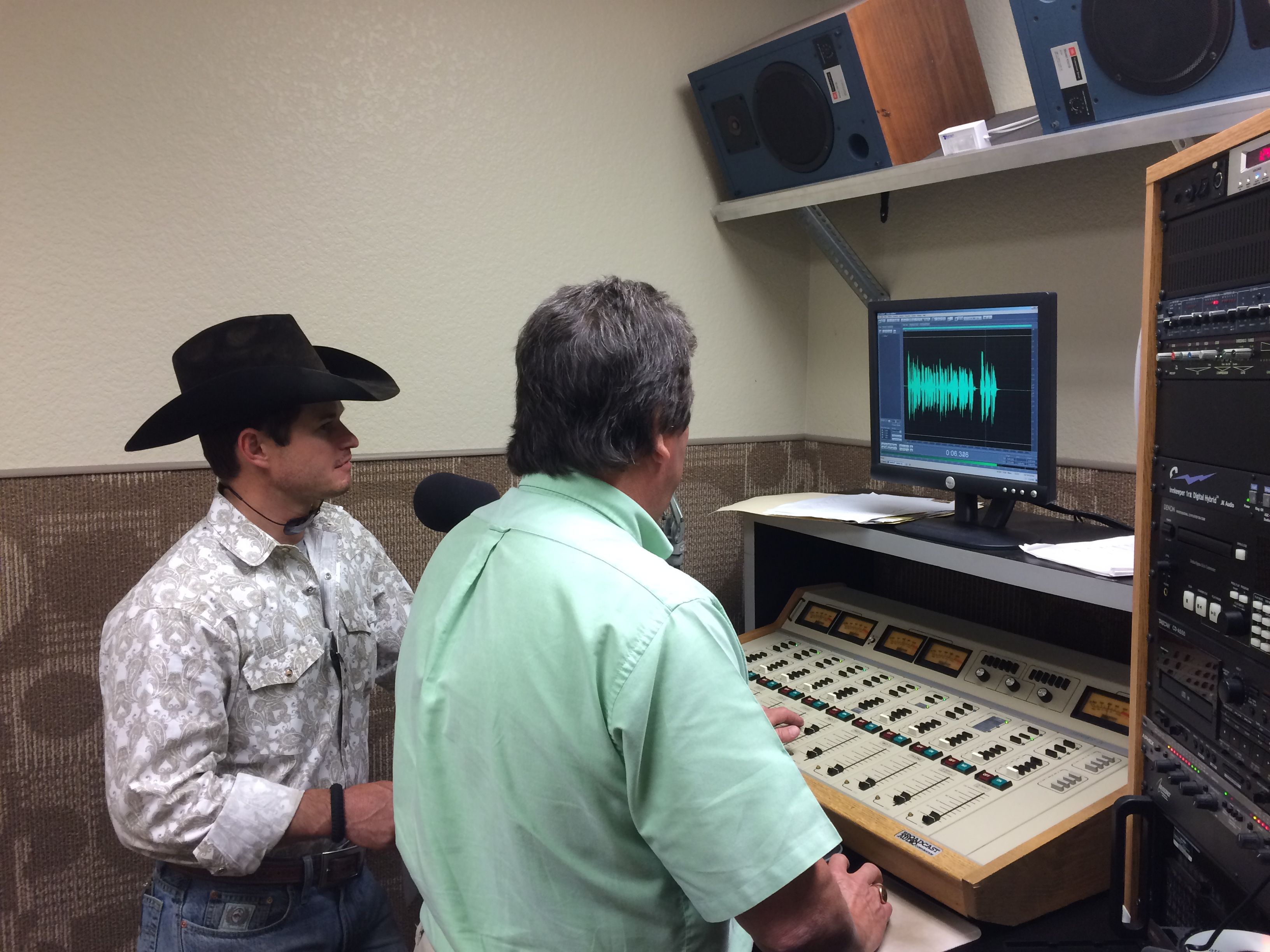 Jet McCoy recording a Kubota Package deal spot for