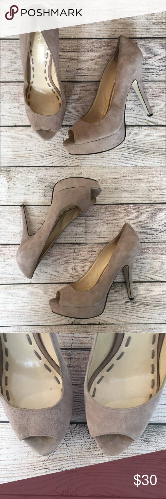 """Enzo Angiolini Peep Toe Pumps 5"""" heel with 1"""" platform. Gently worn, still in great condition NO TRADES/NO MODELING✅BUNDLE TO SAVE✅ Enzo Angiolini Shoes Heels"""