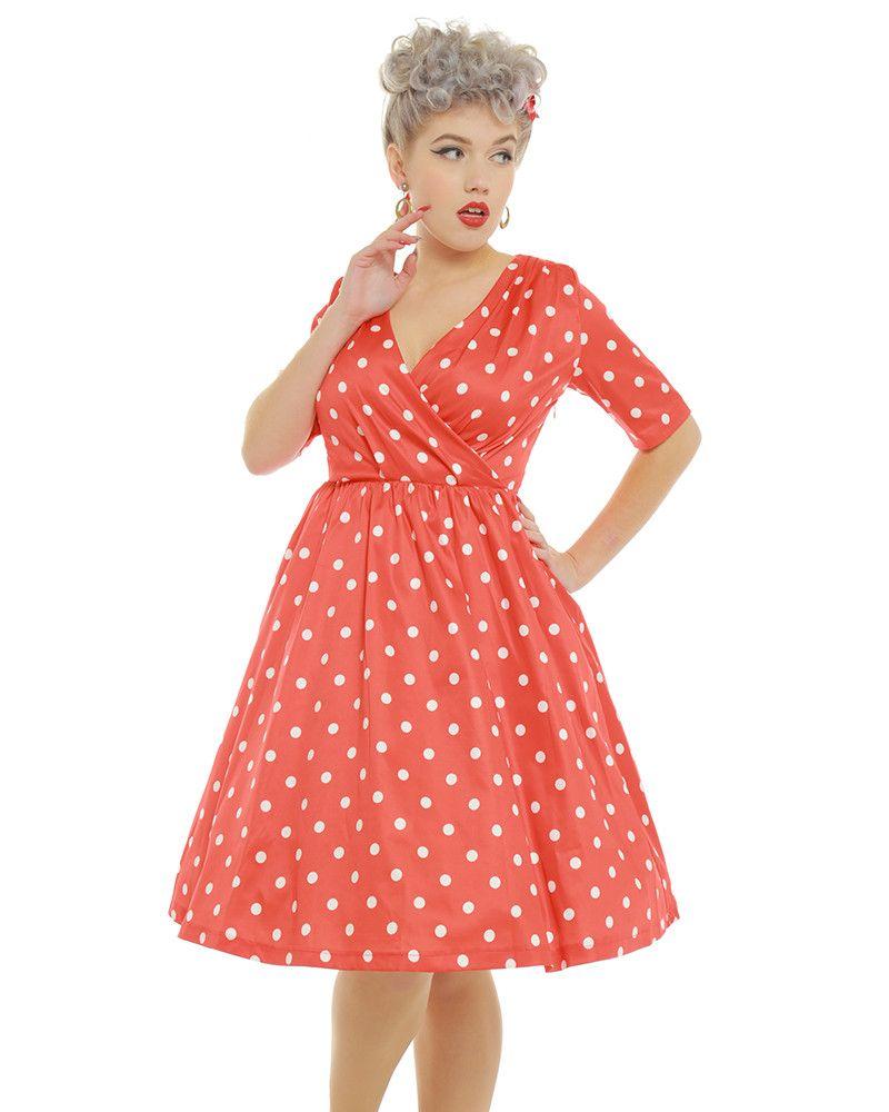 3ee1af58b182a Dahlia' Red Polka Dot Swing Dress | Clothes | Swing dress, Dresses ...