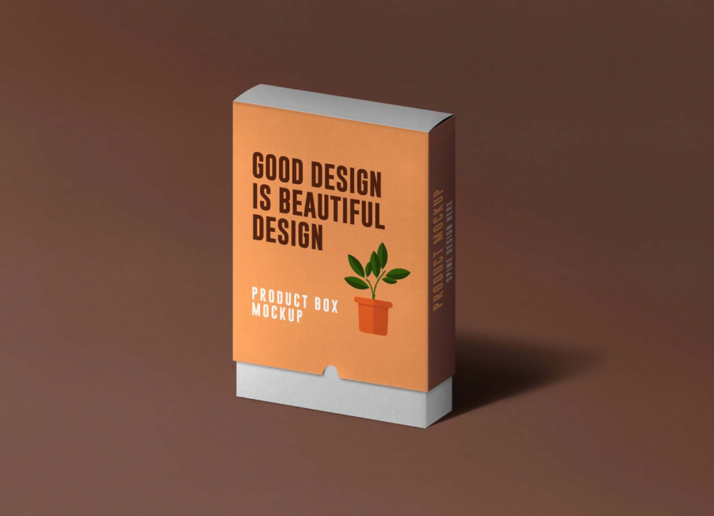 Download Free Slide Product Box Mockup Psd In 2020 Box Mockup Slide Box Free Mockup