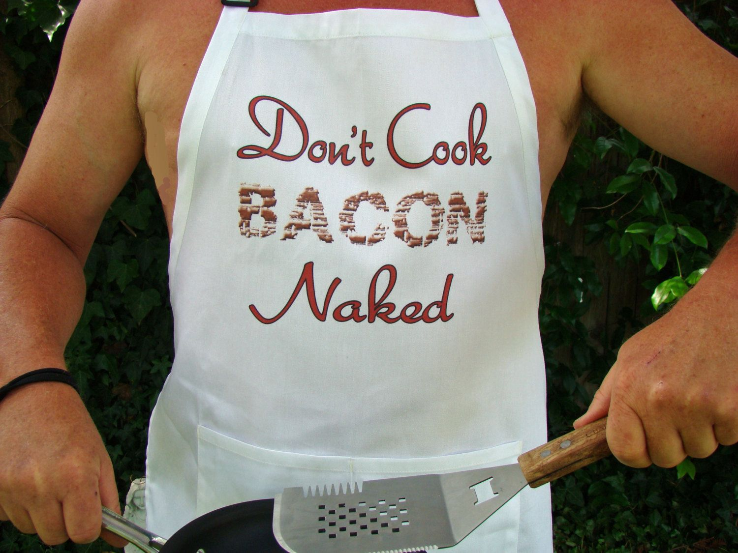 Men\'s Apron Kitchen / BBQ Apron Don\'t Cook BACON by BobKatInk ...