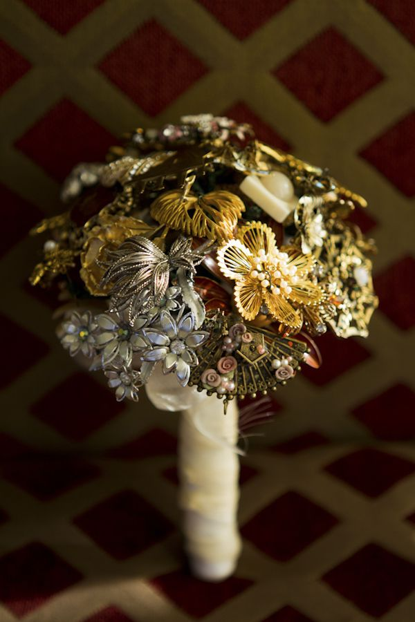 bouquet of artistic metal flowers - wedding photo by top Orange ...