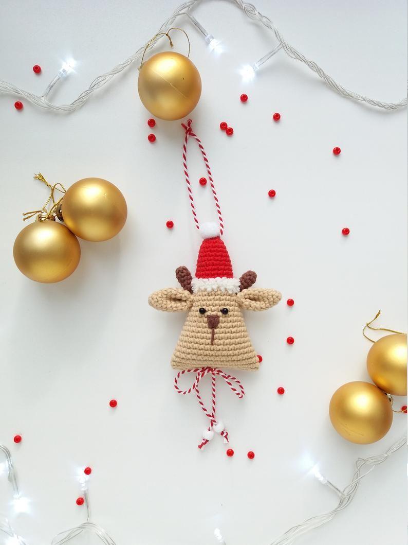 Christmas Crochet Decoration: Santa Reindeer Christmas Tree | Etsy