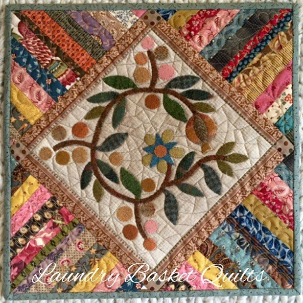 Laundry Basket Quilt of the Day - one of my new minis!! Pattern will be…
