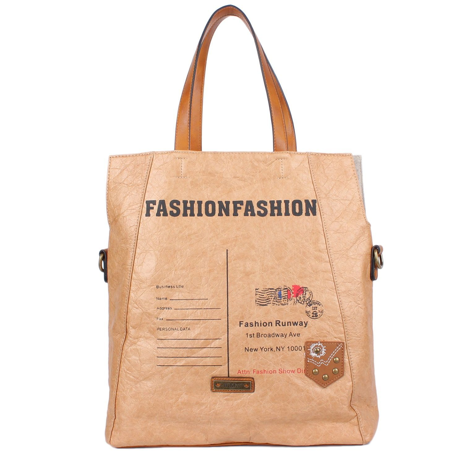 Nikky Multiple Compartment Envelope Inspired Fashion Tote Bag