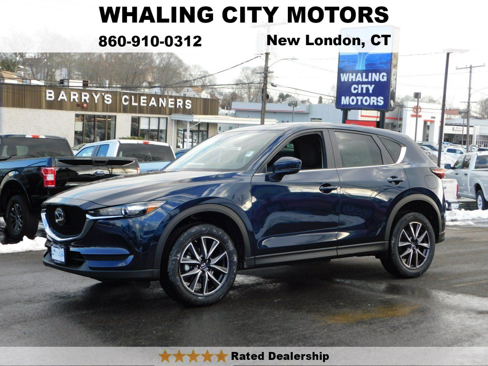 A 2018 mazda cx 5 touring in deep crystal blue picture taken on whaling citys truck lot located at 475 broad street new london ct