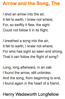 Arrow And The Song Longfellow Essay Contest Quote Songs Youth Violence