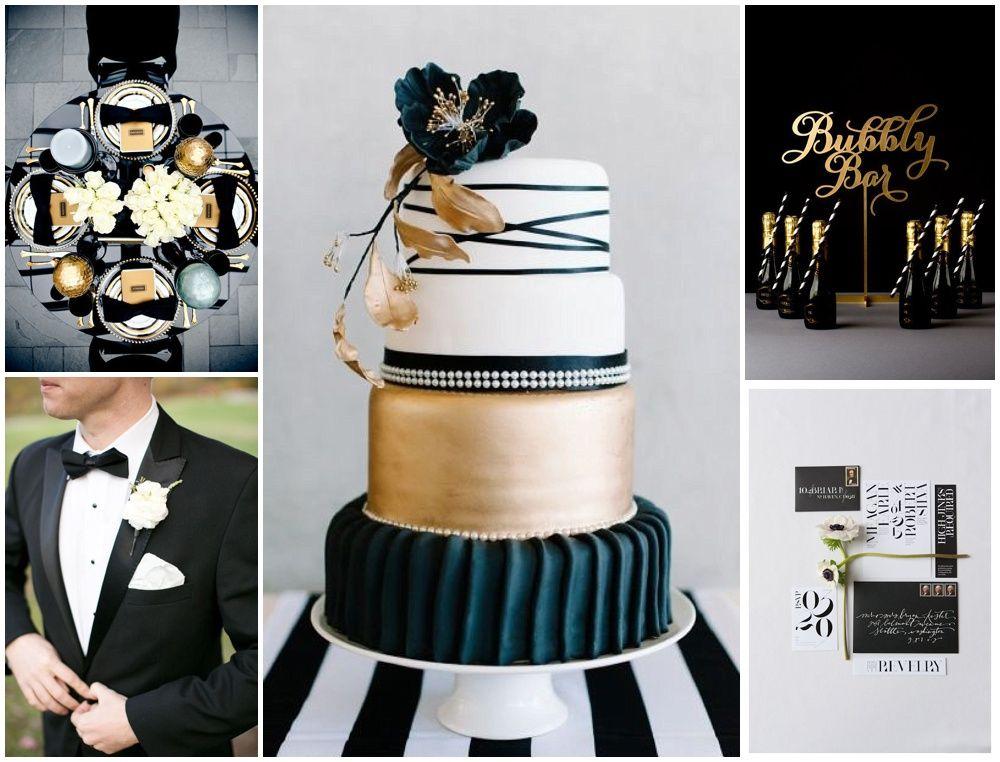 Cake Art Affair : Black White And Gold Wedding Theme wedding brand and theme ...