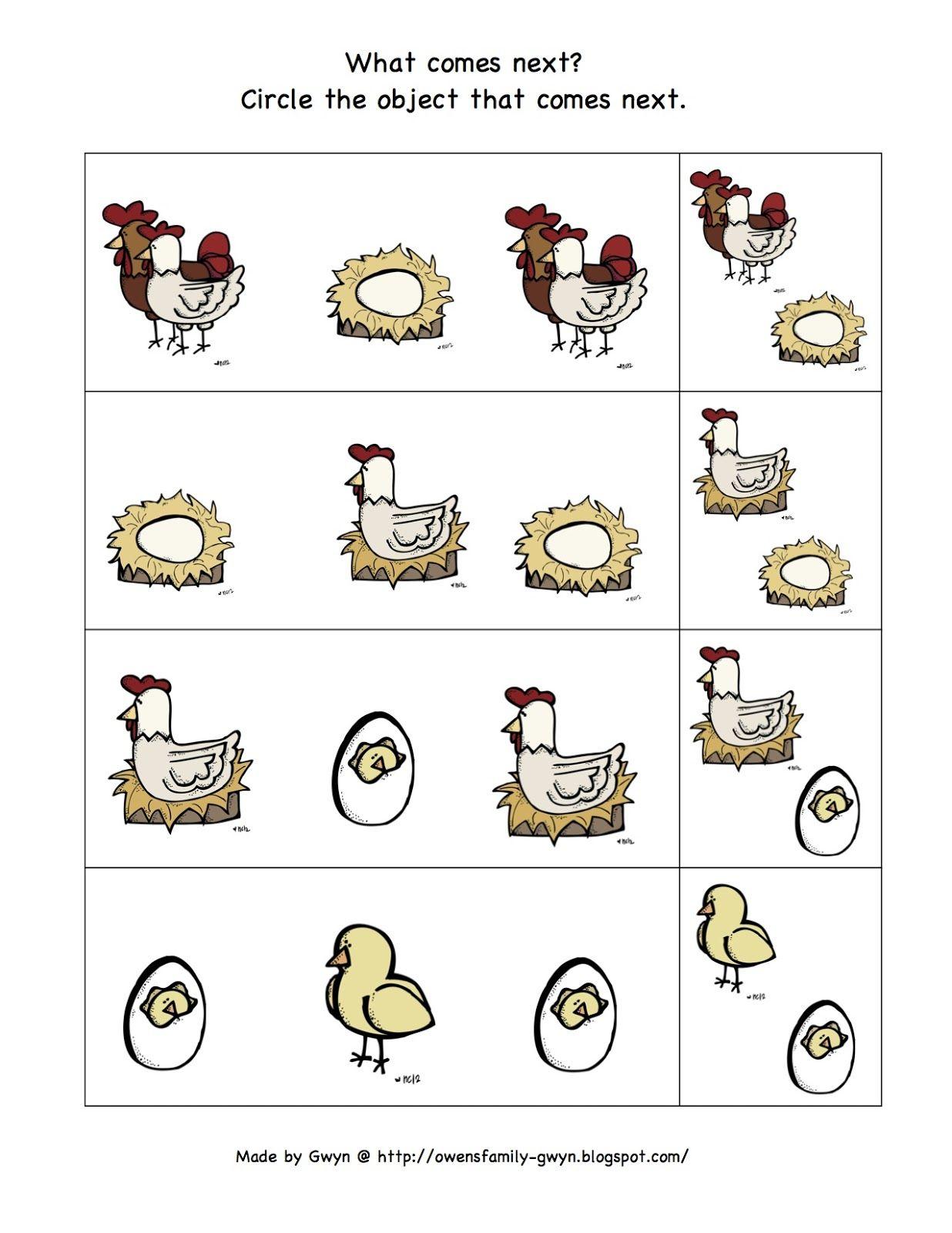 Preschool Printables Chicken Life Cycle Printable