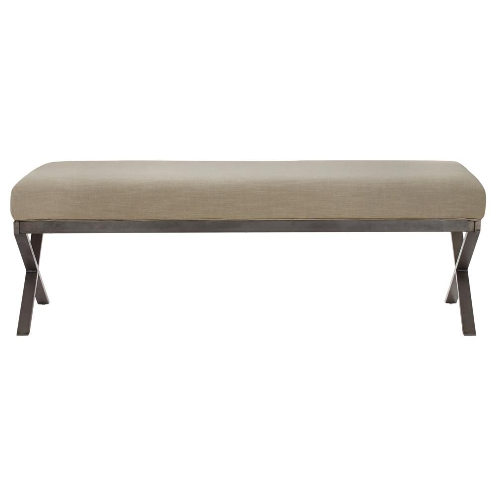 Living Room Bench Atelier Contempo Fabric Bench With Metal Legs Ottomans