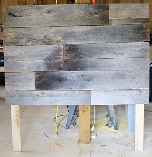 Cabecero con madera recuperada Cabecero Madera y Respaldo cama