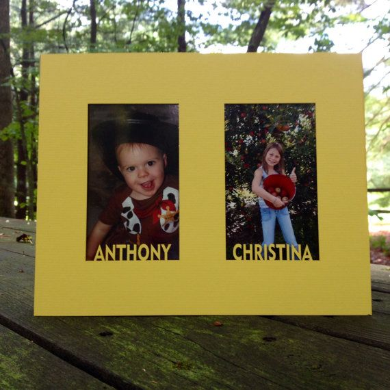 Custom Photo Matting Double picture windows with by WoodBeeLove
