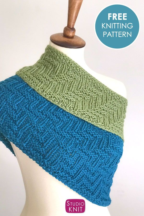 Knit a Scarf in Zigzag Texture   Knitting, Knitting for ...
