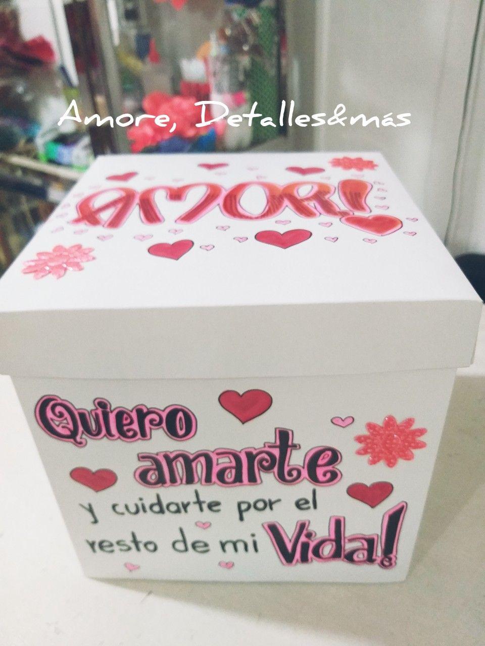 Caja Decorada Amor Hacer Cajas De Regalo Cajas De Regalo Originales Cajas Personalizadas