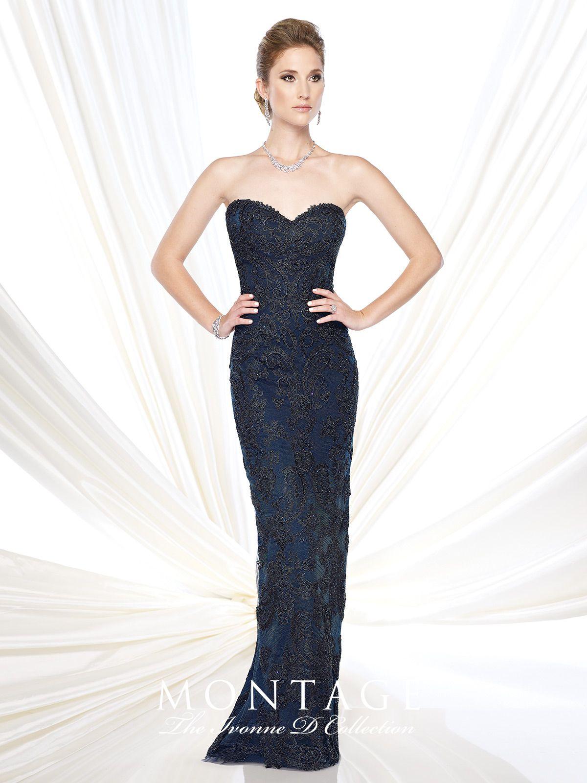 Ivonne D - Evening Dresses - 215D04   Shawl, Neckline and Blue gold