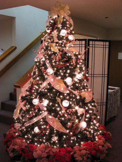 7 5 Ft Asian Themed Christmas Tree Asian Christmas Trees Christmas Tree Themes Pink Christmas Tree