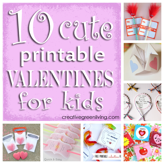 10 cute printable valentines for kids