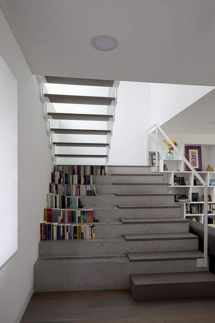 escalier suspendu de design moderne en 55 exemples supers escalier suspendu escalier droit et. Black Bedroom Furniture Sets. Home Design Ideas