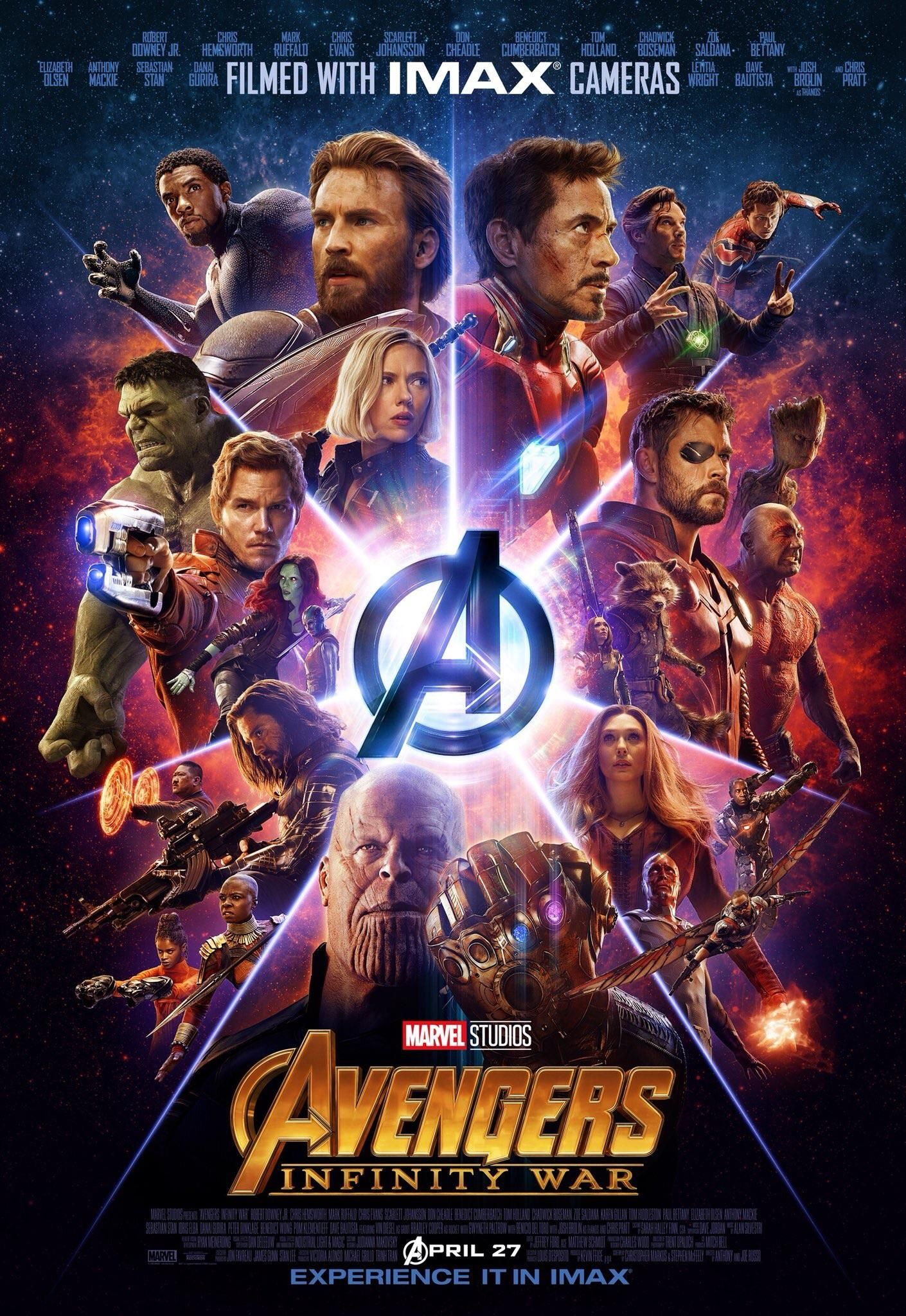 Infinity War Imax Poster Marvel Infinity War Marvel Posters