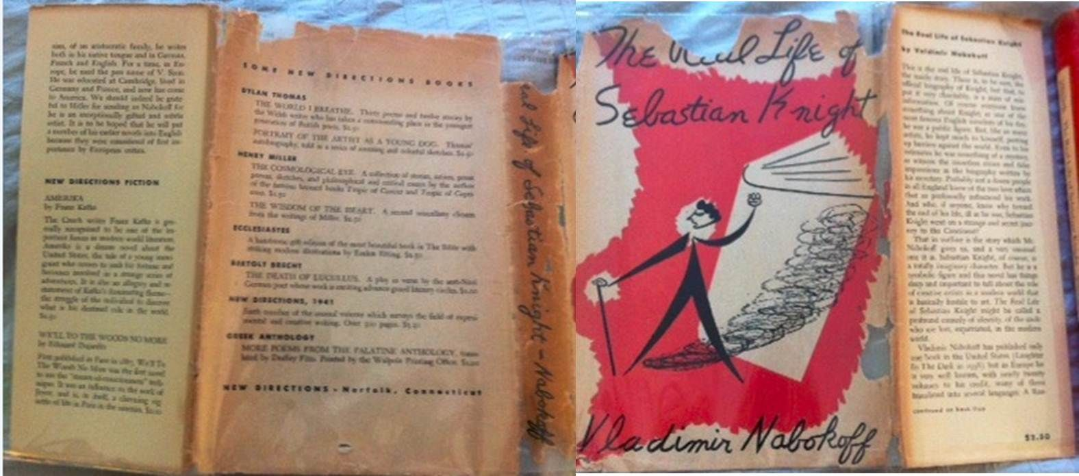 Vladimir Nabokov S Rare Book The Real Life Of Sebastian Knight Note The Misspelling Of His Name On The Spine Rare Books Books Book Cover