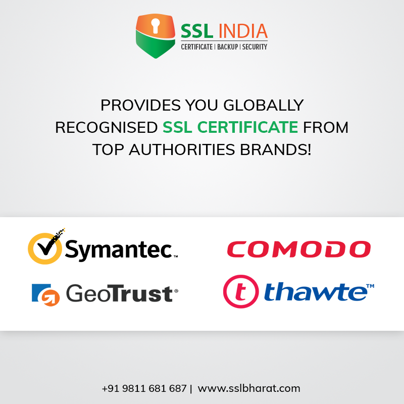 Sslindia Provides You Globally Recognized Ssl Certificate From Top