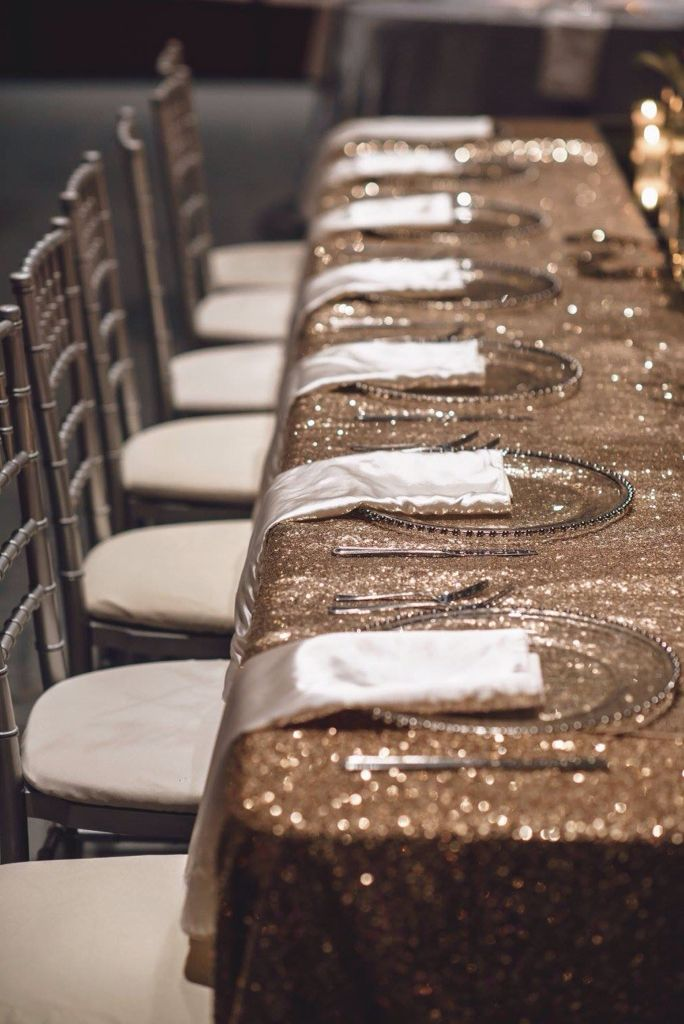 Mink Giselle Silver Chiavari Chairs And Glass Chargers